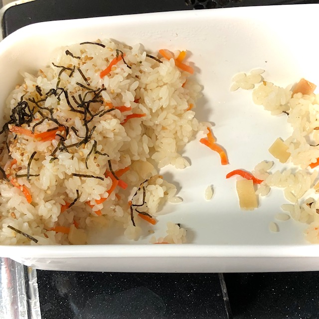 ちらし寿司からオムライス作り