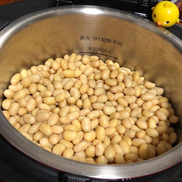 ホットクックで自家製蒸し大豆作り