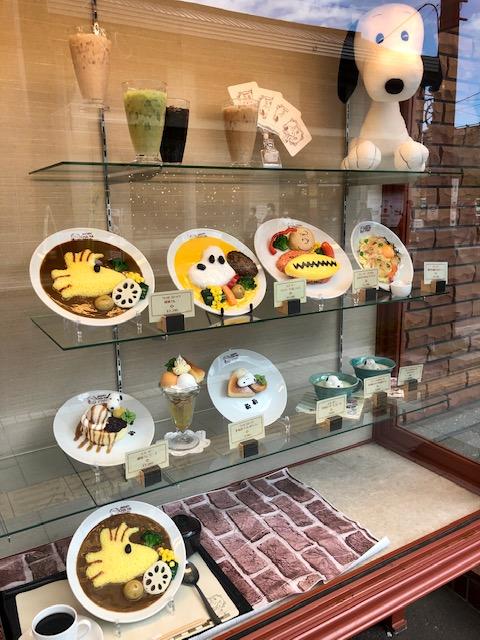 SNOOPY茶屋小樽カフェメニュー