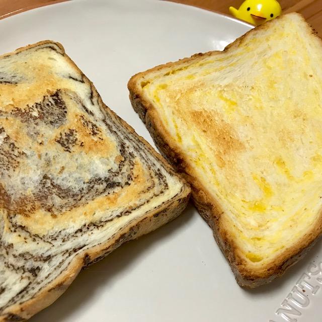 月原ベーカリーのみかんパン&チョコマーブルパン